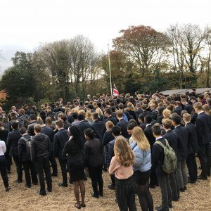 Senior School Pauses For Thought On Armistice Day